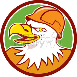 eagle CONSTRUCTION WORKER HEAD CIRC clipart. Commercial use image # 394434