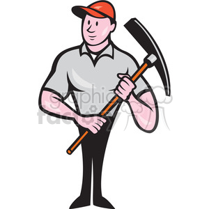 construction worker pickaxe clipart. Commercial use image # 394514