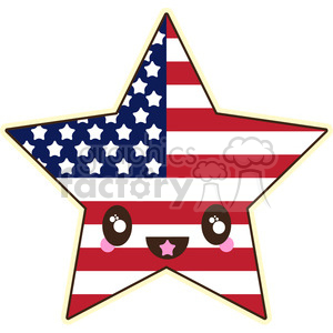 Fourth Of July star clipart. Royalty-free image # 394644
