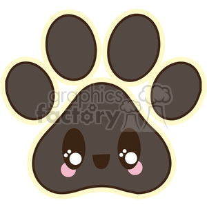 Paw Print clipart. Royalty-free icon # 394674