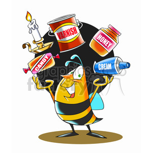 bee juggling items products honey and chemicals clipart. Commercial use image # 394704