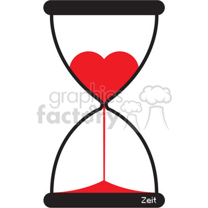 hourglass of love clipart. Commercial use image # 394840