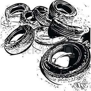 stack of old tires clipart. Royalty-free image # 394850