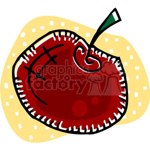 red apple clipart. Royalty-free image # 145439