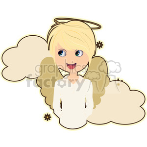 Angel boy cartoon character vector image