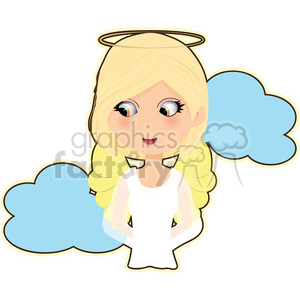 female Angel cartoon character vector image clipart. Royalty-free image # 394947