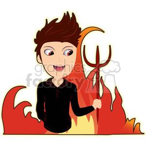 Devil boy cartoon character vector image
