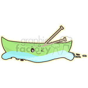 Canoe cartoon character vector clip art image clipart. Commercial use image # 395033