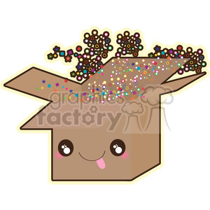 Box cartoon character vector clip art image clipart. Royalty-free image # 395043