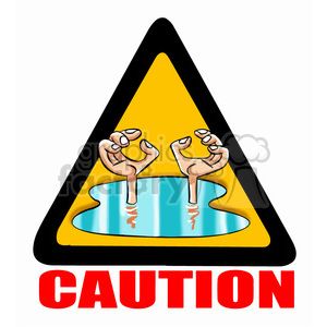 caution sign flooding clipart. Royalty-free image # 395080