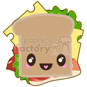 Sandwich cartoon character vector clip art image clipart. Commercial use image # 395239