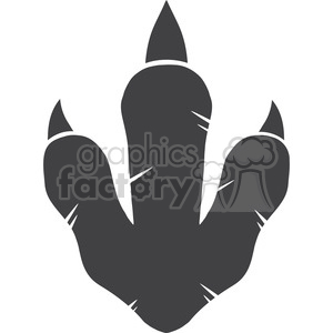 8773 Royalty Free RF Clipart Illustration Dinosaur Paw Print Vector Illustration Isolated On White Background clipart. Royalty-free image # 395441