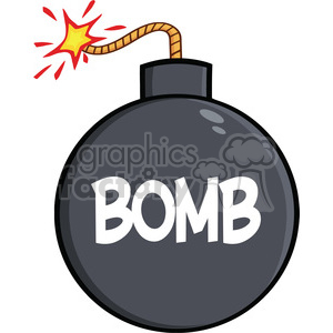 Royalty Free RF Clipart Illustration Cartoon Bomb With Text clipart. Royalty-free image # 395871