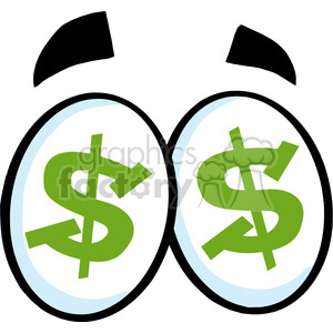 Dollar sign cartoon. Royalty free rf clipart