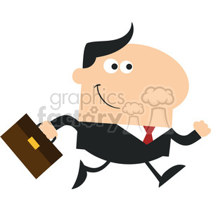 8267 Royalty Free RF Clipart Illustration Smiling Manager With Briefcase Running To Work Modern Flat Design Vector Illustration clipart. Commercial use image # 396013