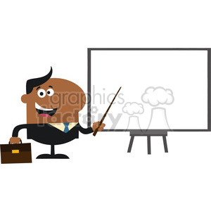 8357 Royalty Free RF Clipart Illustration African American Manager Pointing To A White Board Flat Style Vector Illustration clipart. Royalty-free image # 396052