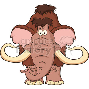 8750 Royalty Free RF Clipart Illustration Mammoth Cartoon Character Vector Illustration Isolated On White clipart. Commercial use image # 396428