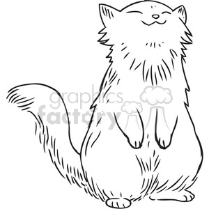 white cat clipart. Royalty-free image # 397097