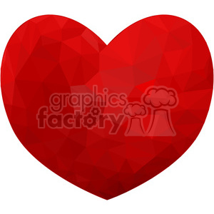 Heart triangle art geometry geometric polygon vector graphics RF clip art images clipart. Royalty-free image # 397321