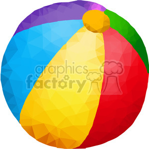 Beach Ball triangle art geometry geometric polygon vector graphics RF clip art images clipart. Royalty-free image # 397341