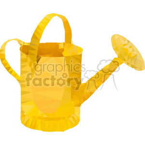 geometry polygons watering can gardening spring garden yellow