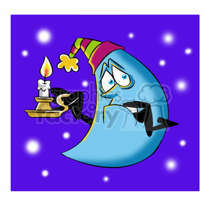 rocky the cartoon moon character scared of dark clipart. Commercial use image # 397531