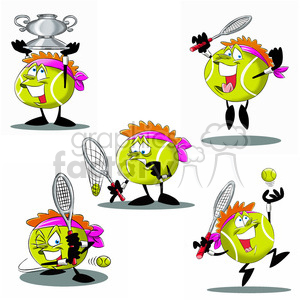 terry the tennis ball cartoon character clip art image set clipart. Commercial use image # 397771