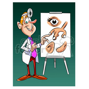 doug the cartoon doctor teaching anatomy clipart. Royalty-free image # 397791