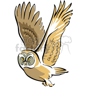 Flying owl clipart. Royalty-free image # 129461