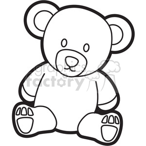 cartoon teddy bear coloring page clipart. Royalty-free image # 397929
