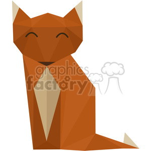 Fox polygon animal art clipart. Royalty-free image # 397949