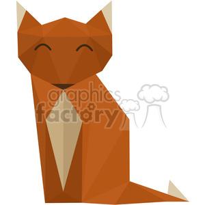 Fox polygon animal art