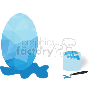 Painted egg clipart. Royalty-free image # 397959