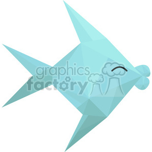 Fish polygon animal art clipart. Royalty-free image # 397969