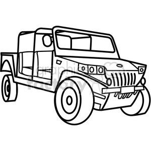 military armored tactical vehicle outline clipart. Commercial use image # 397989