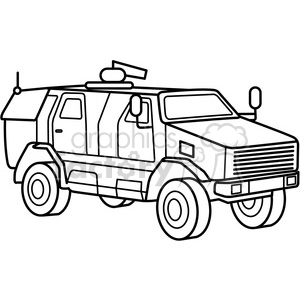 military armored mrap vehicle outline clipart. Commercial use image # 397999