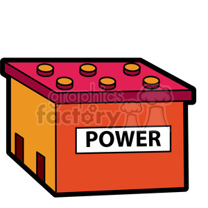 power cell battery illustration graphic clipart. Royalty-free image # 398049