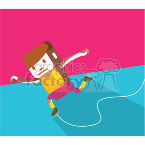 ice skater sports character illustration clipart. Royalty-free image # 398099