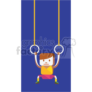 gymnastics sports character illustration clipart. Commercial use image # 398109