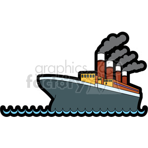 titanic ship in the ocean clipart. Commercial use image # 398129