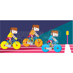 olympic cycling bikes illustration clipart. Royalty-free image # 398139