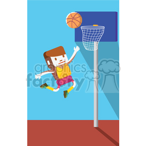 olympic basketball player illustration clipart. Royalty-free image # 398149