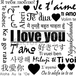 22 different ways to say I love you clipart. Royalty-free image # 398169