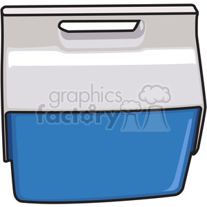 blue cooler clipart. Royalty-free image # 398209