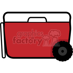 red wheeled cooler icon clipart. Royalty-free image # 398219