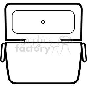 white opened cooler icon clipart. Royalty-free image # 398229