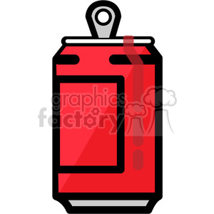red opened soda can icon clipart. Royalty-free image # 398239