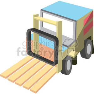 cartoon forklift clipart. Royalty-free image # 398259