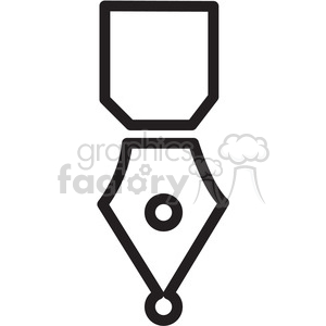 calligraphy pen icon clipart. Commercial use image # 398294