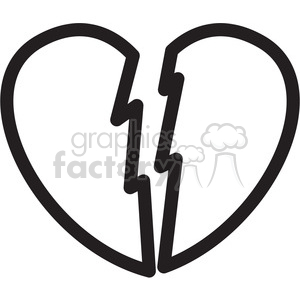 broken+heart icon black+white symbol symbols heart sad
